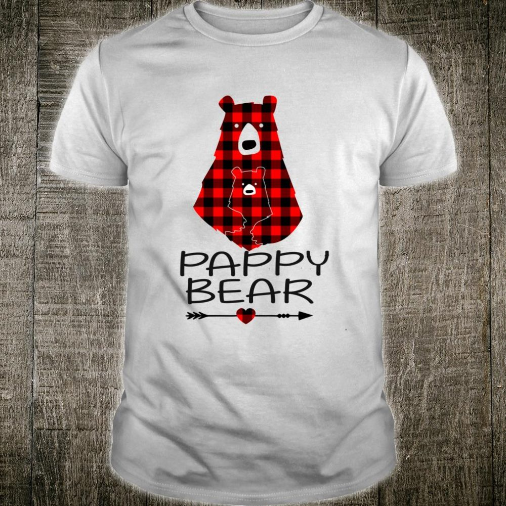 Pappy Bear Red Buffalo Plaid Matching Family Christmas Shirt
