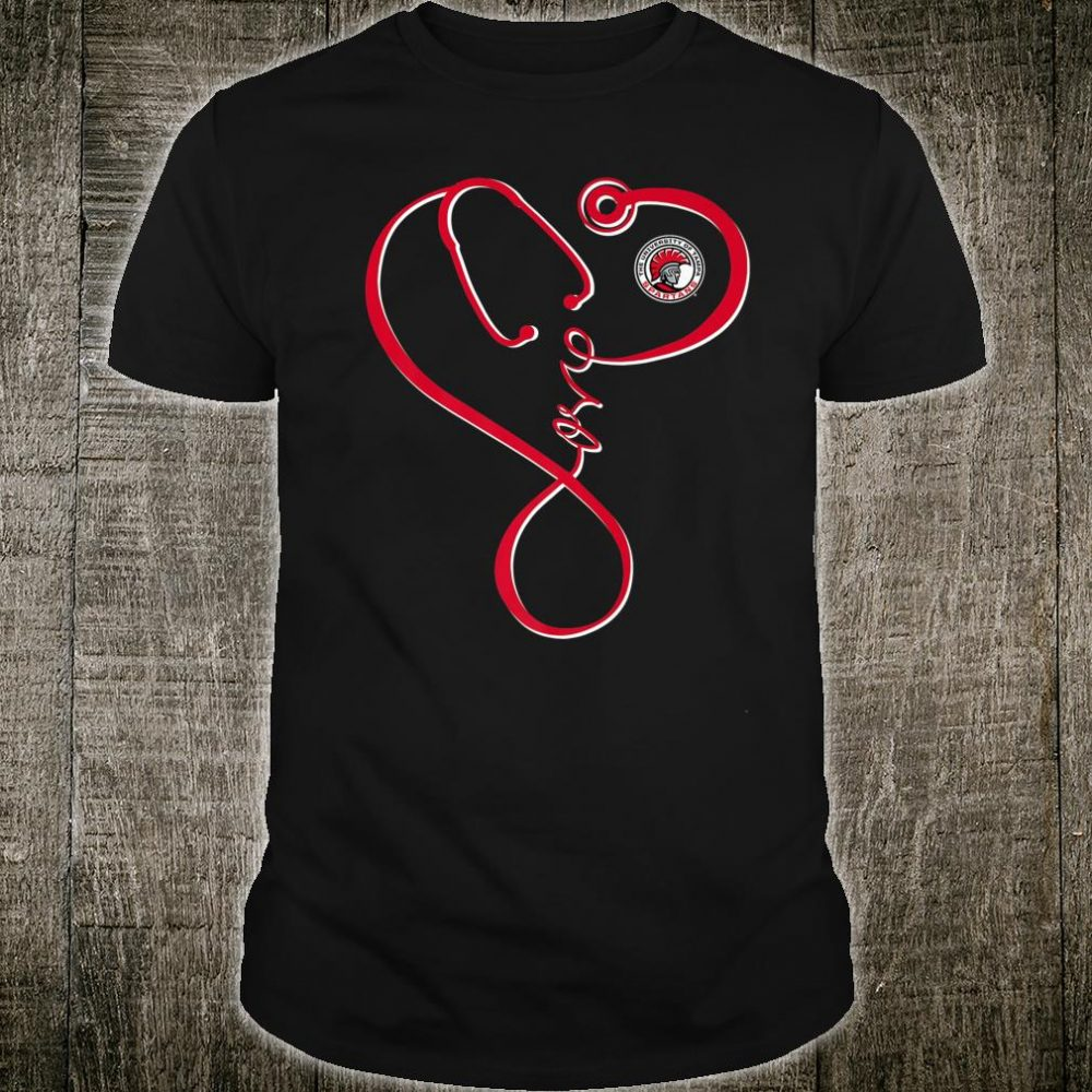 Tampa Spartans Nurse Infinity Love Stethoscope Team Shirt