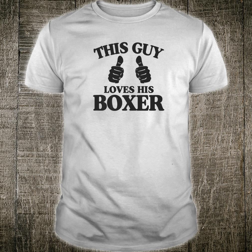 This Guy Loves His Boxer Best Dog Christmas Shirt