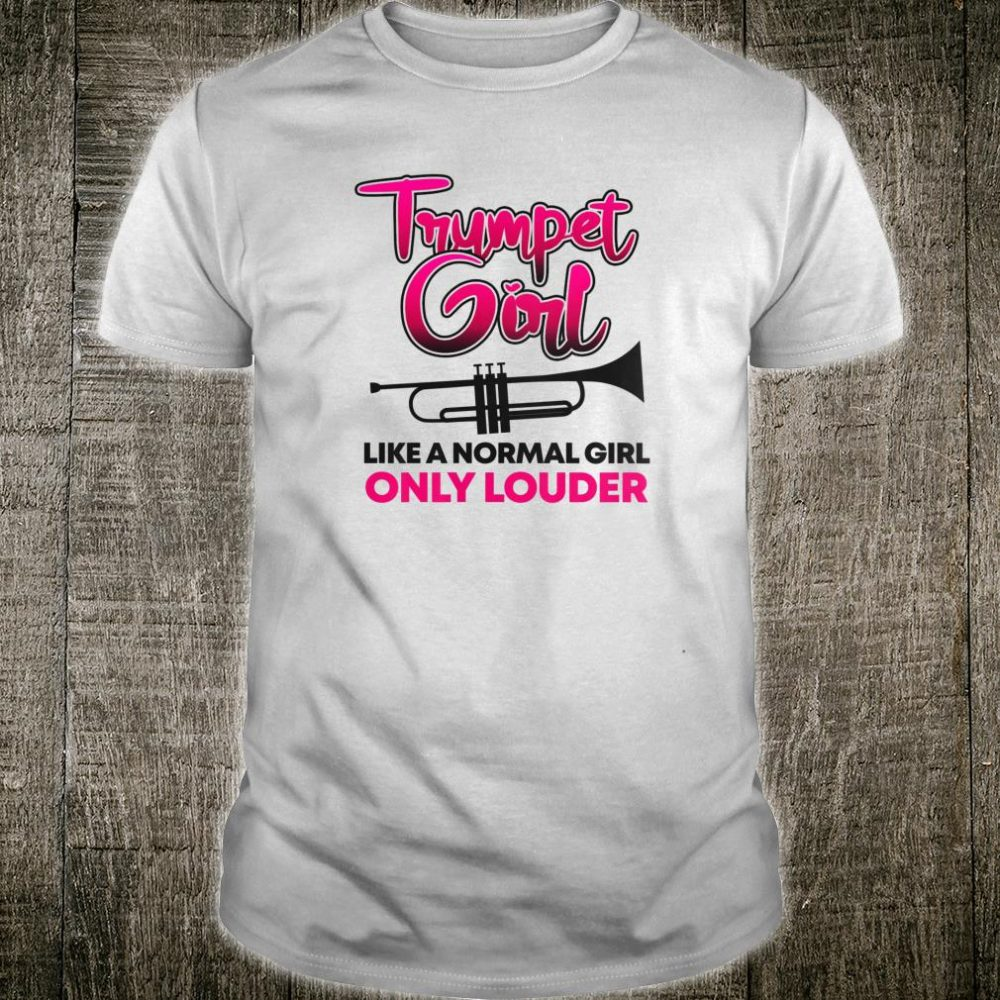 Trumpet Girl Cute Trumpet Player Marching Band Shirt