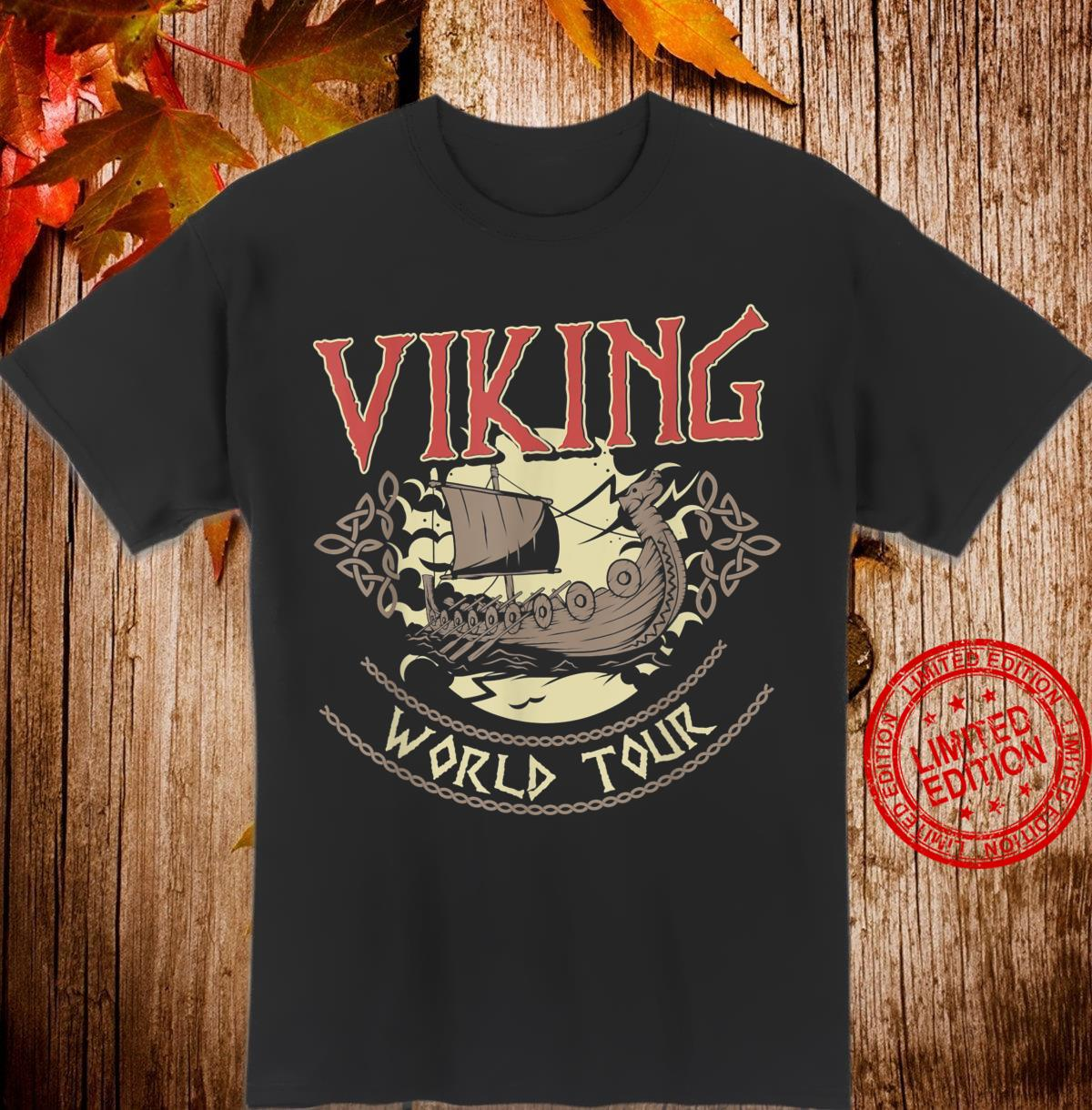 Viking World Tour Design for a Vikings Shirt