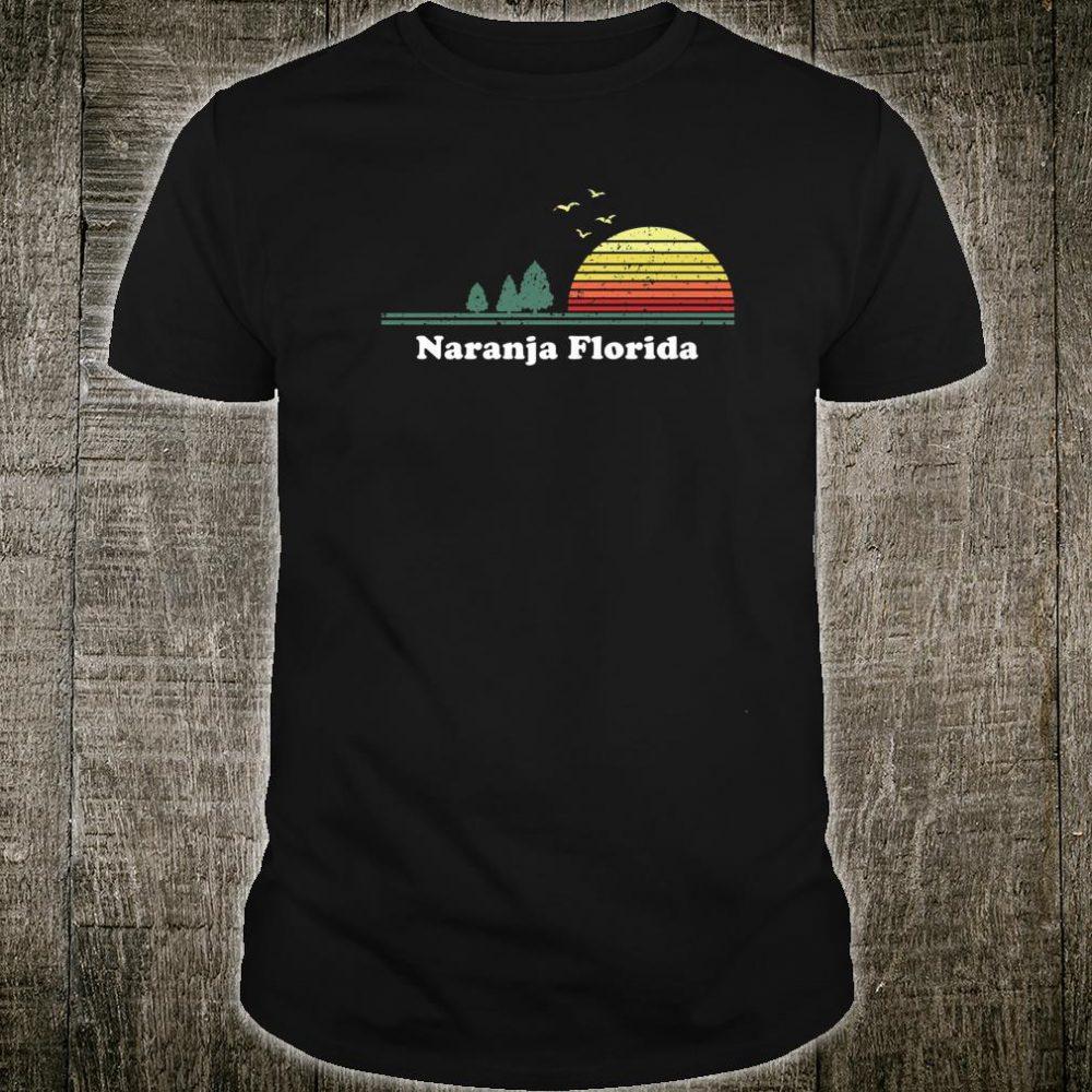 Vintage Naranja, Florida Sunset Souvenir Print Shirt