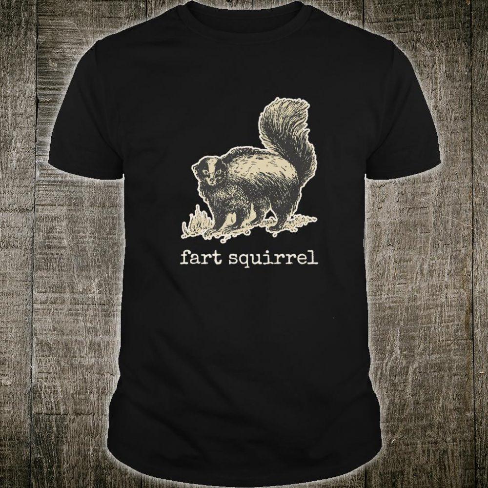 Vintage internet meme skunk fart squirrel Shirt