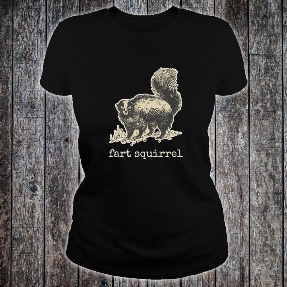 Vintage internet meme skunk fart squirrel Shirt ladies tee