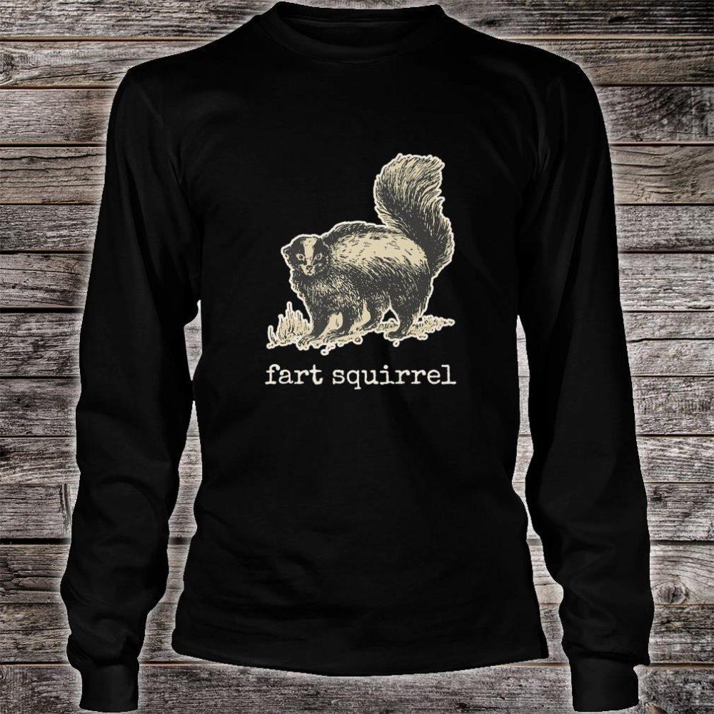 Vintage internet meme skunk fart squirrel Shirt long sleeved