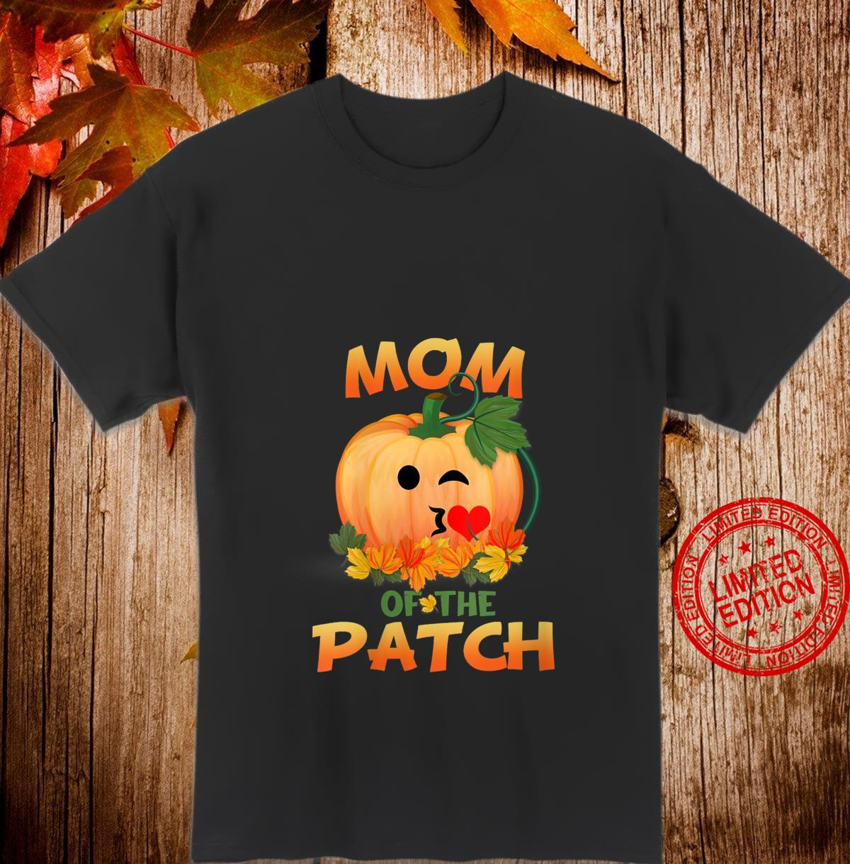 Womens Pumpkin Design Mom Of The Patch Halloween Shirt