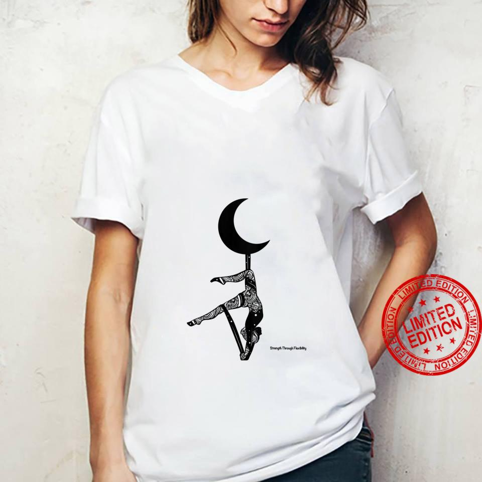 Womens STF Yoga Aerial Fitness Inversion Pigeon Crescent Moon Shirt ladies tee