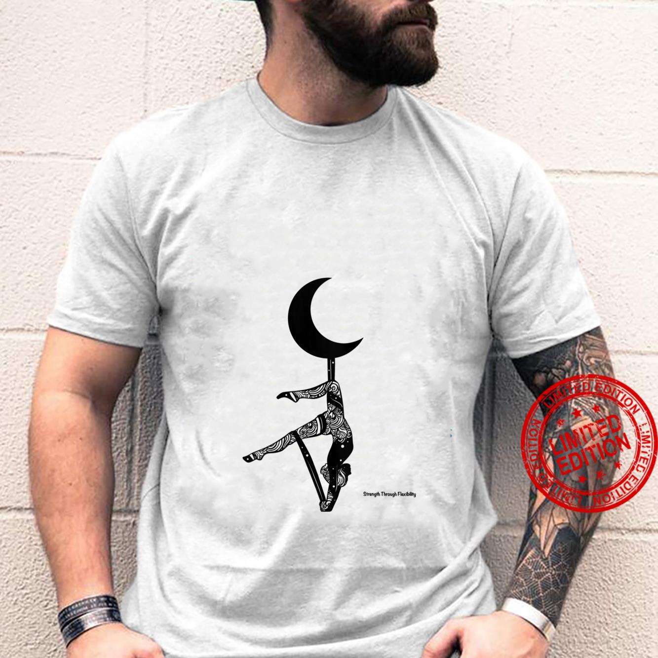 Womens STF Yoga Aerial Fitness Inversion Pigeon Crescent Moon Shirt