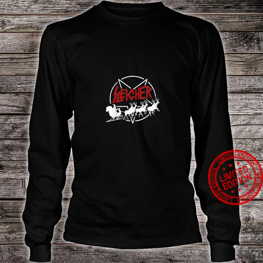Womens Sleigher Christmas For Father Shirt long sleeved