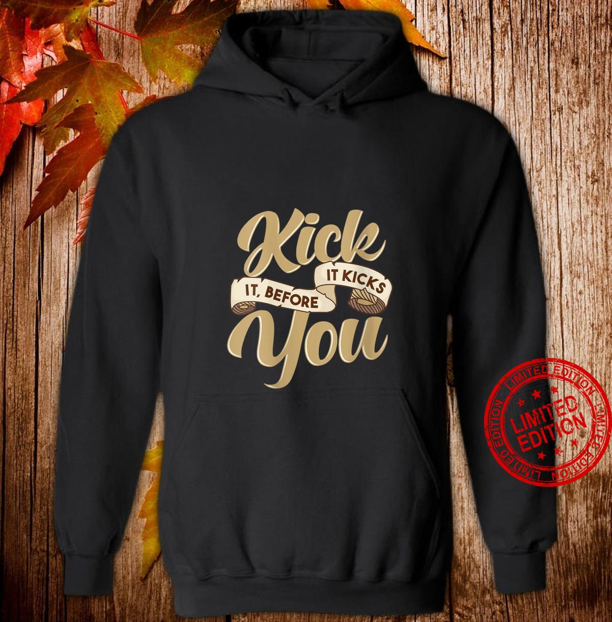 Womens Sobriety Sober Living Quote Kick the Habit Shirt hoodie