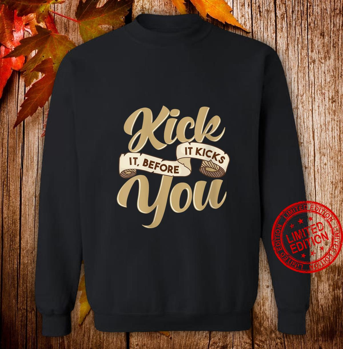 Womens Sobriety Sober Living Quote Kick the Habit Shirt sweater