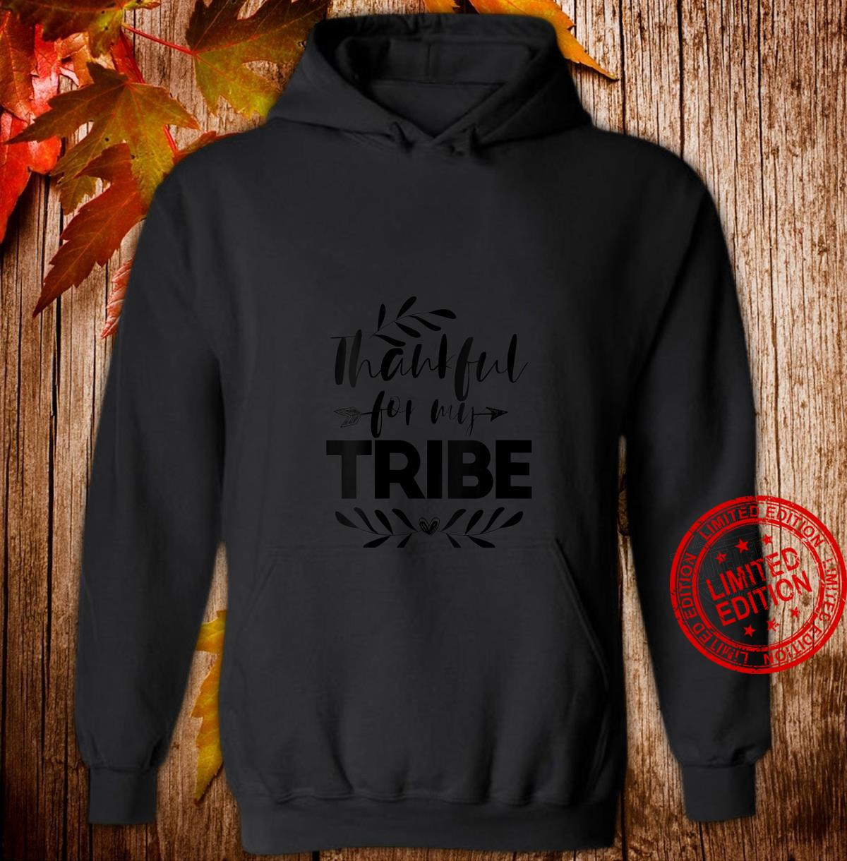 Womens Thankful For My Tribe Thanksgiving For Family Shirt hoodie