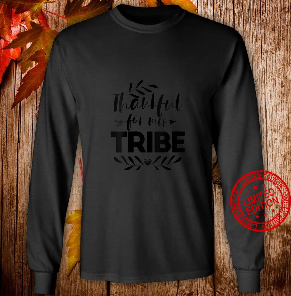 Womens Thankful For My Tribe Thanksgiving For Family Shirt long sleeved