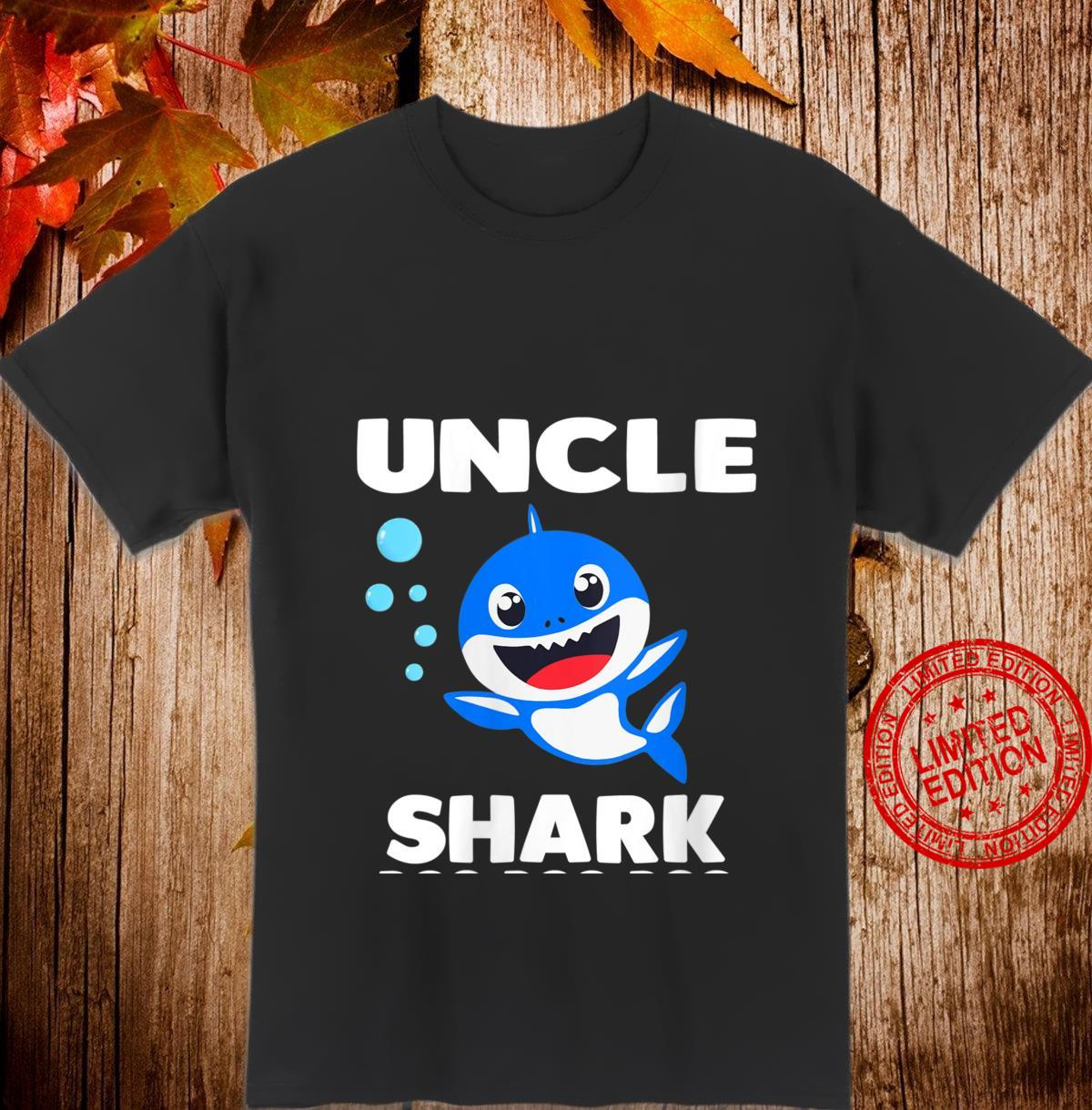 Womens Uncle Shark Shirt Doo Doo Mommy Auntie Daddy Baby Shirt