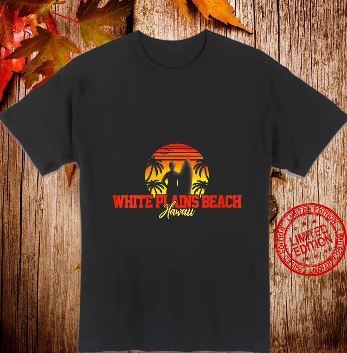Womens White Plains Beach Hawaii Shirt