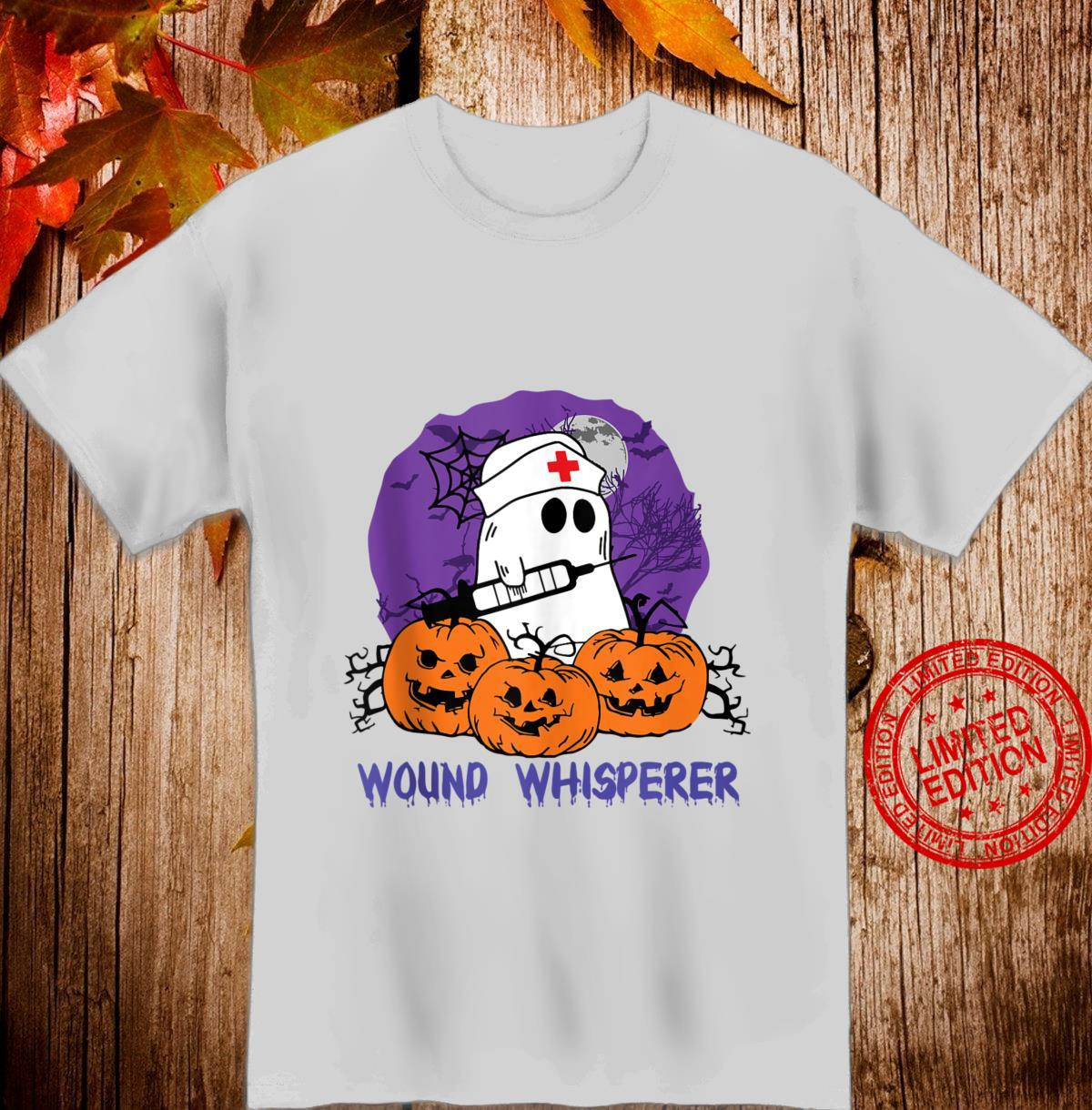 Wound Whisperer Nurse Ghost Halloween Costume Shirt
